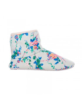 Natalie hoge pantoffel booties creme