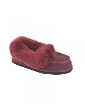 Classic schapenwol pantoffels rood
