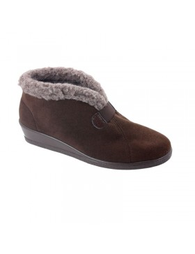 Hanna hoge pantoffel dames bruin