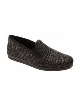 Loden Genua heren pantoffels grijs