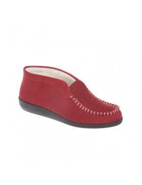 Rohde Scheerwol huisschoen dames rood