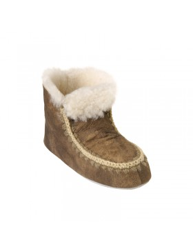 Shepherd Nova hoge pantoffels bruin