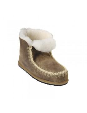 Shepherd Pia hoge sheepskin pantoffel bruin