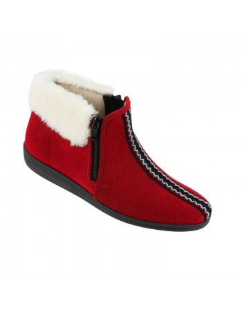 Hoge rode pantoffels van Rohde