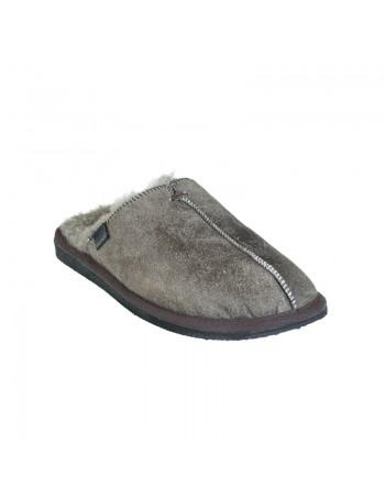 Shepherd Hugo sheepskin muil pantoffels grijs