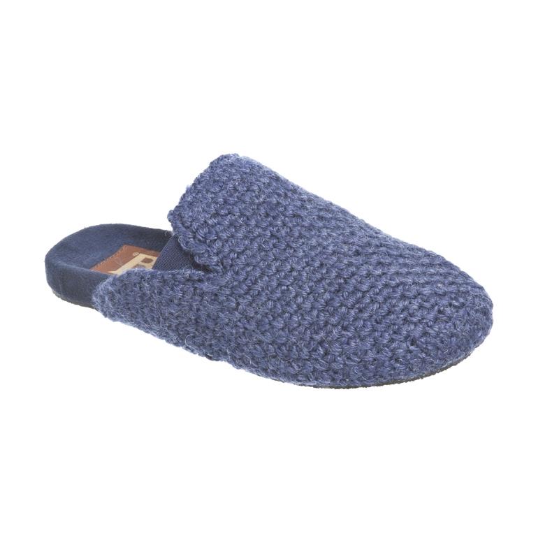 Onwijs Ruby Brown - Comfort - Dames Muiltjes - Blauw   Gebreide pantoffel KL-41