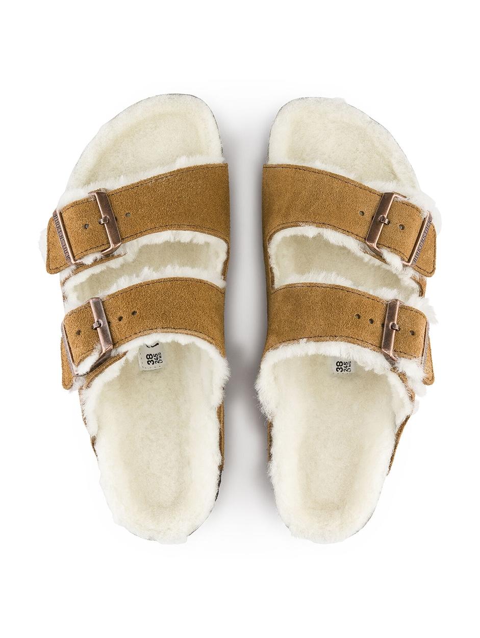 Birkenstock Arizona Suède Regular Slipper | Wollen slipper