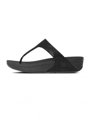 Shimmy Suede Toe Thong Sandals