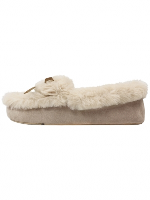 Natural Sheepy Moccasin
