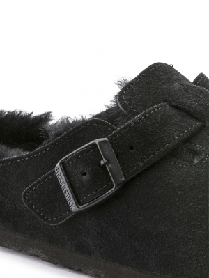 Boston Black Shearling Narrow